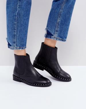 ASOS Кожаные ботинки челси ALISTAR. Цвет: черный