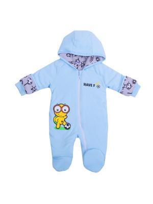 Комбинезон нательный для малыша batik. Цвет: голубой