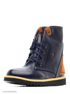 Ботинки Betsy. Цвет: темно-синий, коричневый