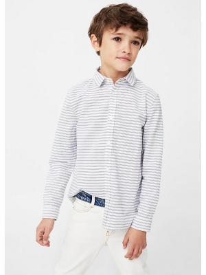 Рубашка - STRIPES2 Mango kids. Цвет: белый, прозрачный