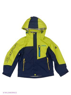 Куртка High Experience. Цвет: синий, желтый