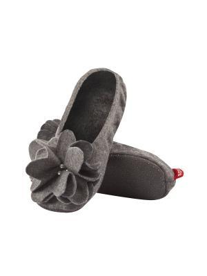 Тапки женские SOXO. Цвет: серый