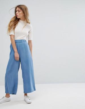 Dr Denim Укороченные широкие брюки Abel. Цвет: синий
