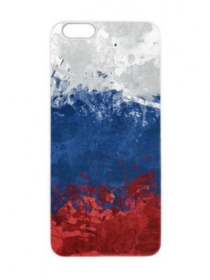Чехол для iPhone 6 Флаг России маслом Chocopony. Цвет: темно-синий, темно-красный, темно-серый