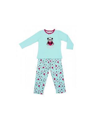Пижама Модамини. Цвет: голубой, розовый