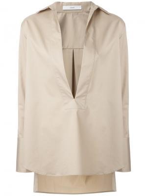 Рубашка c V-образным вырезом Astraet. Цвет: телесный