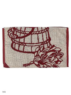 Полотенце махровое пестротканое жаккардовое Веник Авангард. Цвет: темно-коричневый