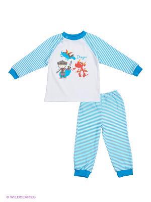 Пижама КОТМАРКОТ. Цвет: белый, голубой
