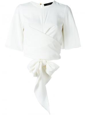 Блузка с запахом Ellery. Цвет: белый