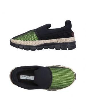 Низкие кеды и кроссовки DOLCE & GABBANA. Цвет: кислотно-зеленый