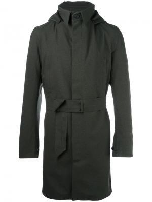Однобортное пальто Norwegian Rain. Цвет: зелёный