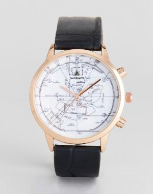 ASOS Часы (золотисто-розовый/черный). Цвет: черный
