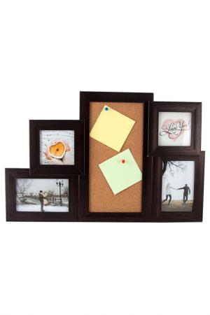 Фоторамка-коллаж на 4 фото Русские подарки. Цвет: оранжевый, коричневый, белый