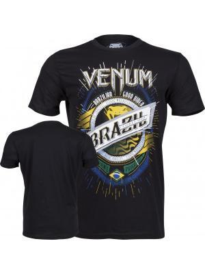 Футболка Venum Keep Rolling T-shirt - Black. Цвет: черный