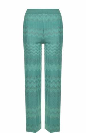 Укороченные расклешенные брюки Missoni. Цвет: бирюзовый
