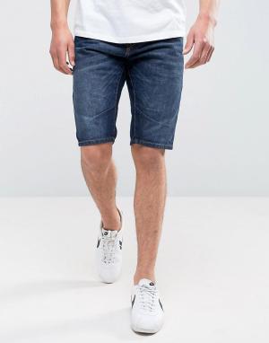 Jack & Jones Джинсовые шорты длиной до колена Intelligence. Цвет: синий