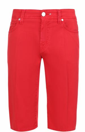 Хлопковые шорты с карманами Sartoria Tramarossa. Цвет: красный