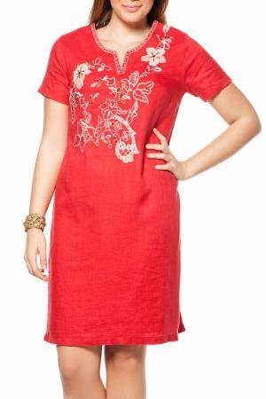 Платье GRAND POMMES. Цвет: красный