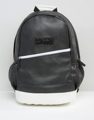 Heist Черно-белый рюкзак. Цвет: черный
