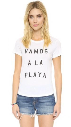 Футболка Vamos A La Playa South Parade. Цвет: белый