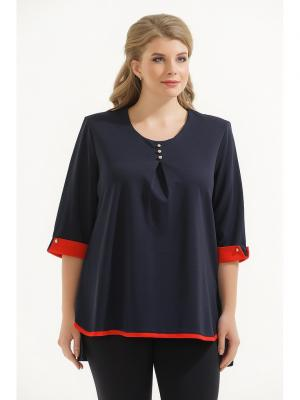 Блузка Maria. Цвет: синий, красный
