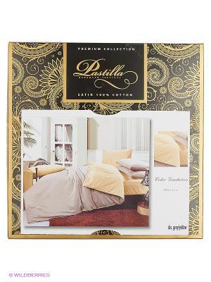 Комплект постельного белья Пастилла Сатин однотонный 2 сп. Pastilla. Цвет: серый, желтый