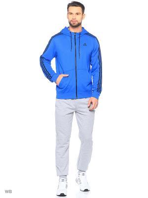 Толстовка ESS THE HOOD Adidas. Цвет: синий