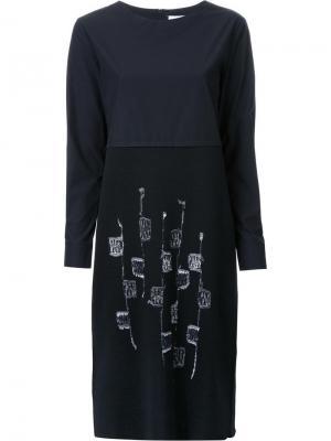 Трикотажное платье Jimi Roos. Цвет: чёрный