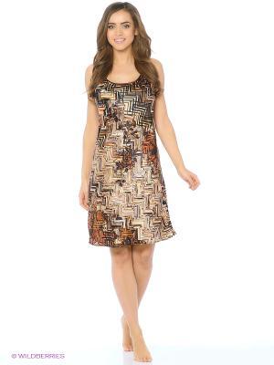 Ночная сорочка Del Fiore. Цвет: коричневый