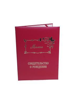Именная обложка для свидетельства о рождении Милана Dream Service. Цвет: бордовый