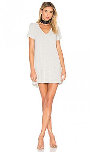 Платье-рубашка finnick Michael Lauren. Цвет: белый