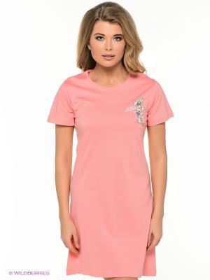 Сорочка Vienetta Secret. Цвет: персиковый