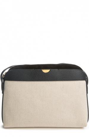Текстильная сумка с кожаной отделкой The Row. Цвет: бежевый
