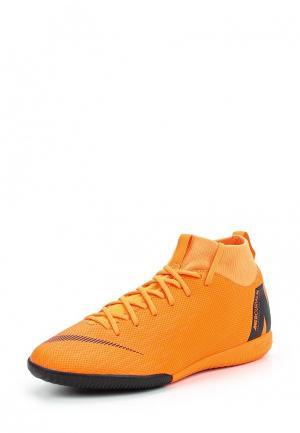 Бутсы зальные Nike. Цвет: оранжевый