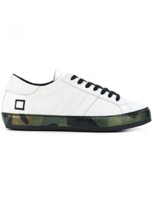 Кроссовки со шнуровкой D.A.T.E.. Цвет: белый