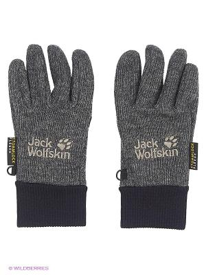 Перчатки KNITTED STORMLOCK GLOVE Jack Wolfskin. Цвет: темно-серый