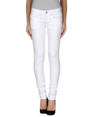 Повседневные брюки MONKEE GENES. Цвет: белый