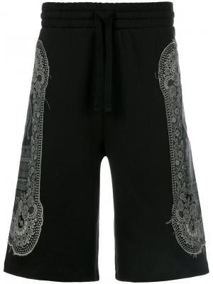 Спортивные шорты с кружевным узором Les Benjamins. Цвет: синий