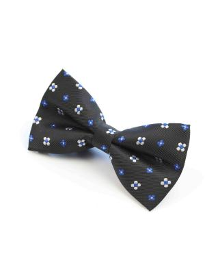 Галстук-бабочка Churchill accessories. Цвет: черный, темно-синий, синий, белый
