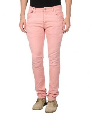Джинсовые брюки JUST CAVALLI. Цвет: розовый