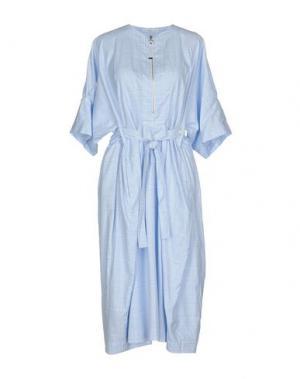 Платье до колена HIGH. Цвет: небесно-голубой