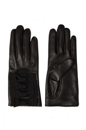 Перчатки с бантами Gucci. Цвет: синий
