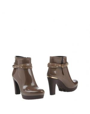 Полусапоги и высокие ботинки MÈNGHI. Цвет: хаки