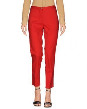 Повседневные брюки SUPERIOR. Цвет: красный