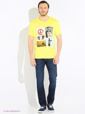 Футболка Marco Masini. Цвет: желтый