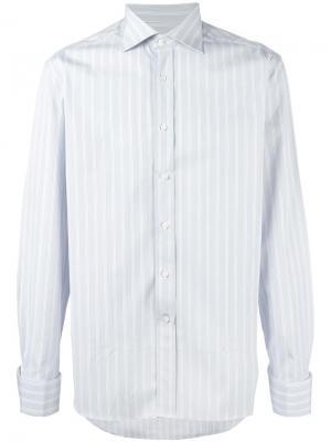 Рубашка в полоску Canali. Цвет: серый