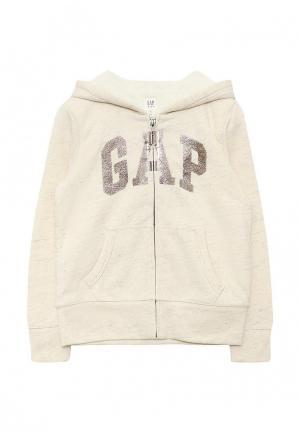 Толстовка Gap. Цвет: бежевый