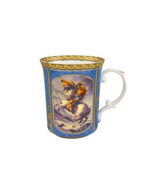 Кружка Наполеон Elan Gallery. Цвет: золотистый, голубой