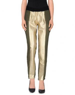 Повседневные брюки ELLA LUNA. Цвет: зеленый-милитари