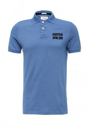 Поло Abercrombie & Fitch. Цвет: синий